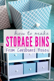How to Make Storage Bins from Cardboard Boxes