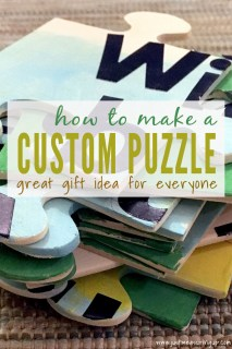 Make a custom puzzle with a message
