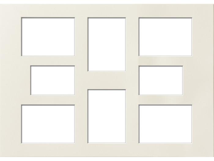 Passepartout 50x70 Cm Mit 8 Ausschnitten Chamois