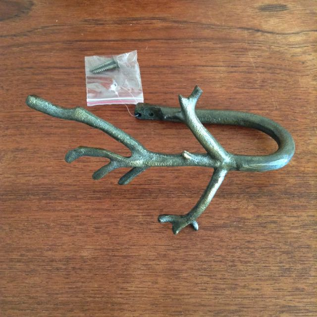 branch curtain tie back bronze 1 pc only