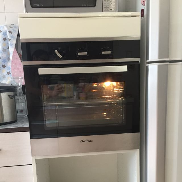 reduced brandt built in oven with ikea cabinet
