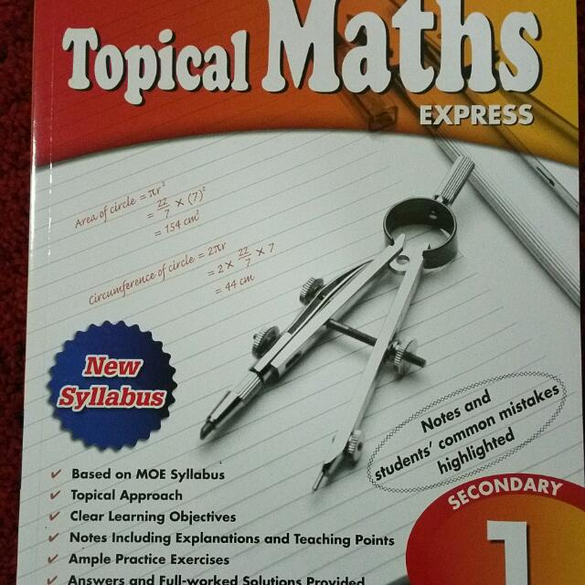 Brand new   Maths worksheet   Topical Maths   Secondary 1  Books     photo photo photo