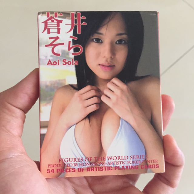 Sora Aoi Gravure Idol Poker Cards Toys Games Board Games Cards On Carousell