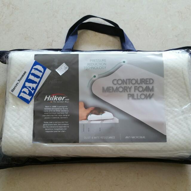 memory foam contour pillow german hilker brand