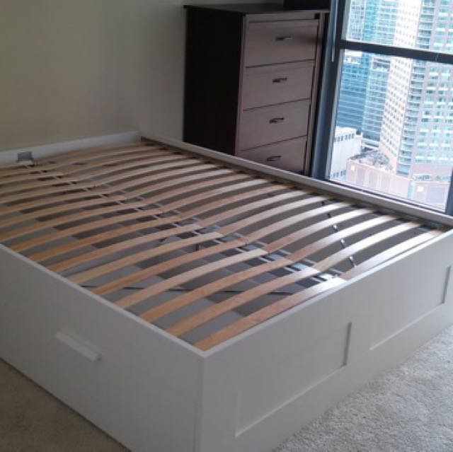 ikea brimnes bed frame with storage white up 519 now 88