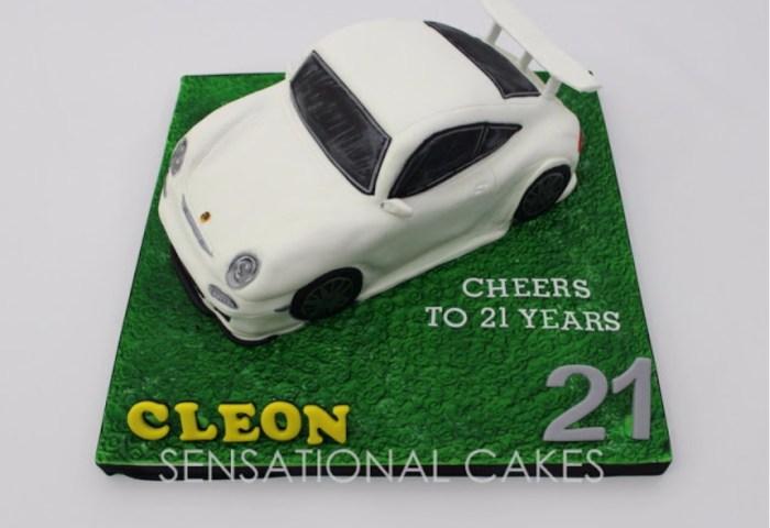 Porsche Car Cake 3d Model Cake Sugar Crafted Cake By Fondant