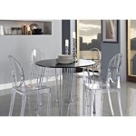 Armless Clear Ghost Chair For 69 Each Furniture Tables