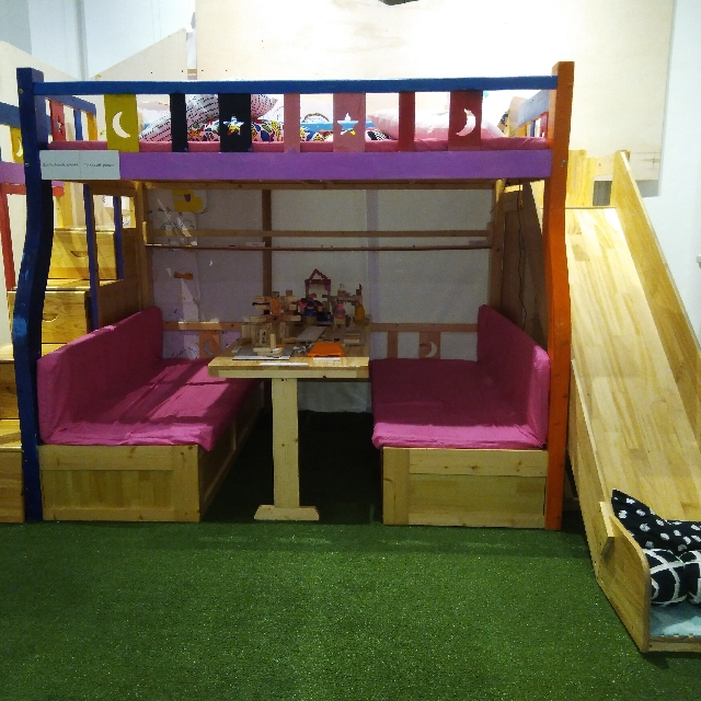 free kid s bunk loft bed with slide