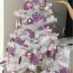 White Christmas Tree With Pink Decorations Furniture Home Decor On Carousell