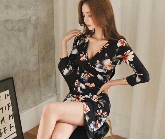 Sexy Korean Dress Womens Fashion Clothes Dresses Skirts On Carousell