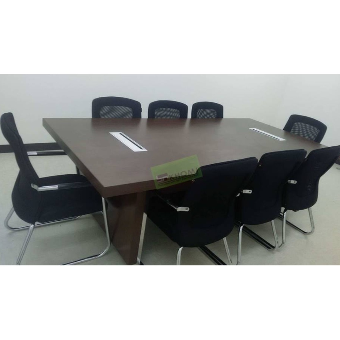 10 Seater Conference Table With Wire Management Khomi Home Furniture Furniture Fixtures Others On Carousell