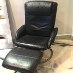 Ikea Malung Leather Reclining Chair Swivel Chair Footstool