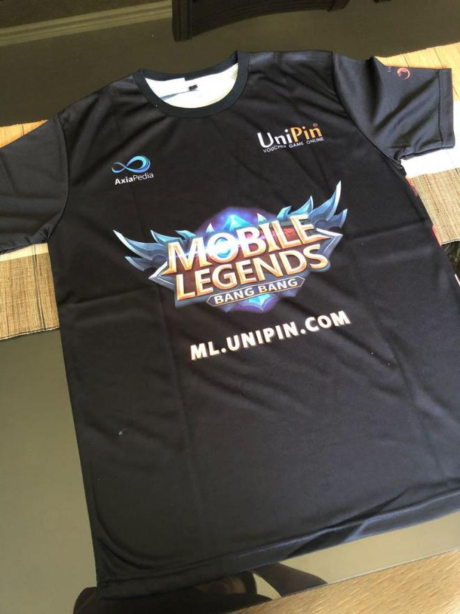 brand new mobile legends x unipin jersey shirt on carousell