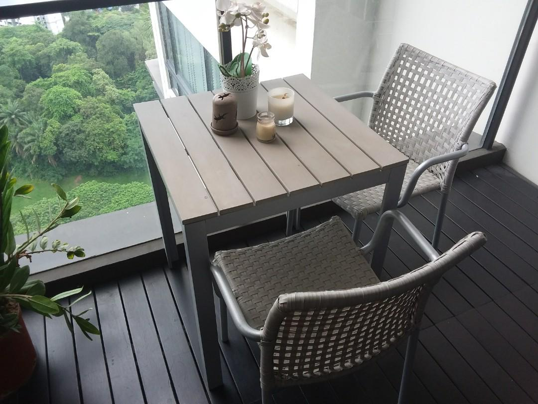 small patio table and 2 chairs