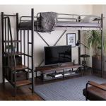 Linie Japanese Metal Loft Bed Stairs Semi Double Jp Size Furniture Beds Mattresses On Carousell