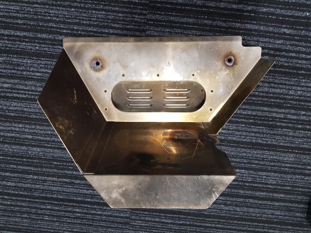 evo x exhaust manifold heatshield car