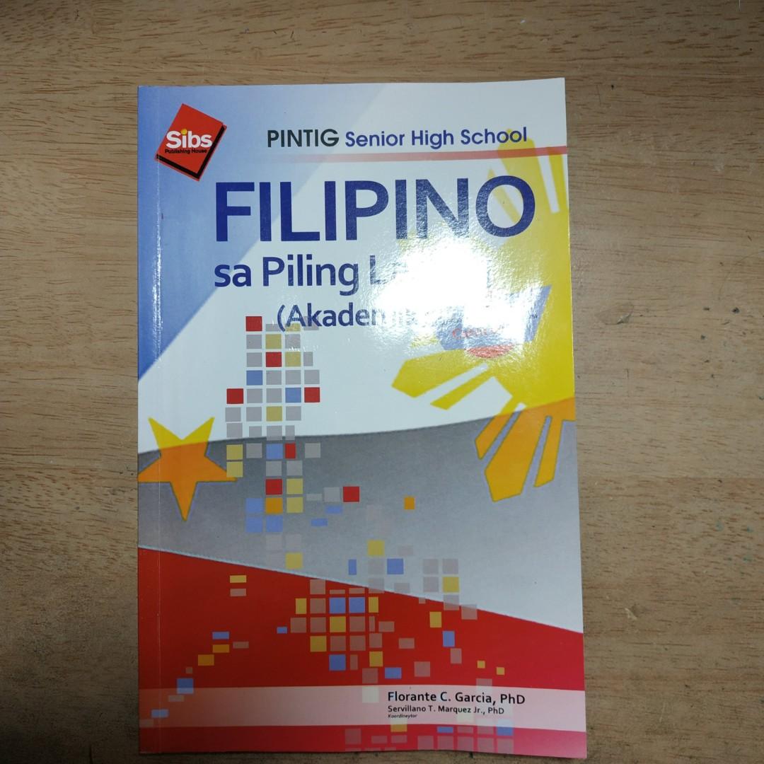 Senior High School Core Subject Book Filipino Sa Piling
