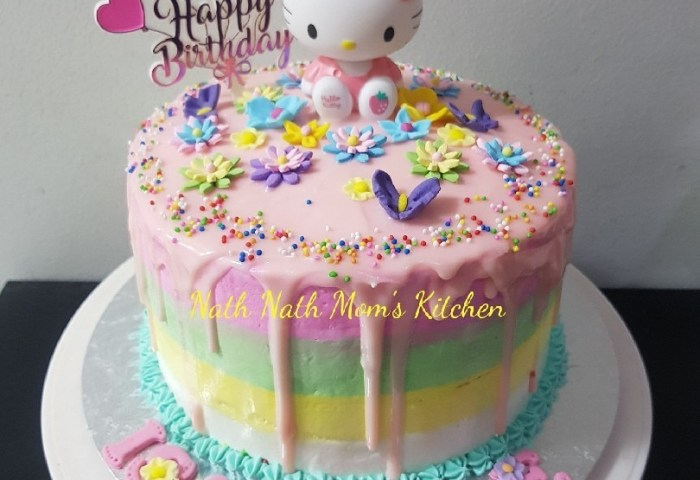 Hello Kitty Cake 8inch Kitty Toys Included Food Drinks Baked