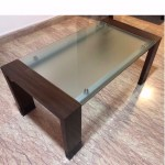 Glass Top Teakwood Coffee Table Furniture Tables Chairs On Carousell