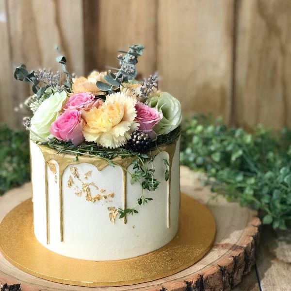 Floral Themed Cake 21st Birthday Cake Classy Birthday