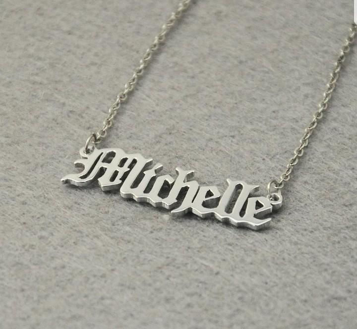 Personalized Name Necklace Jewelry Customisation Christmas Gift