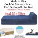 Usa Made Small Cooling Gel Memory Foam Orthopedic Pet Bed For Dogs Cats By Furhaven Pet Supplies For Dogs Dog Accessories On Carousell