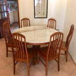 Round Marble Dining Table Set With 6 Chairs Furniture Tables Chairs On Carousell