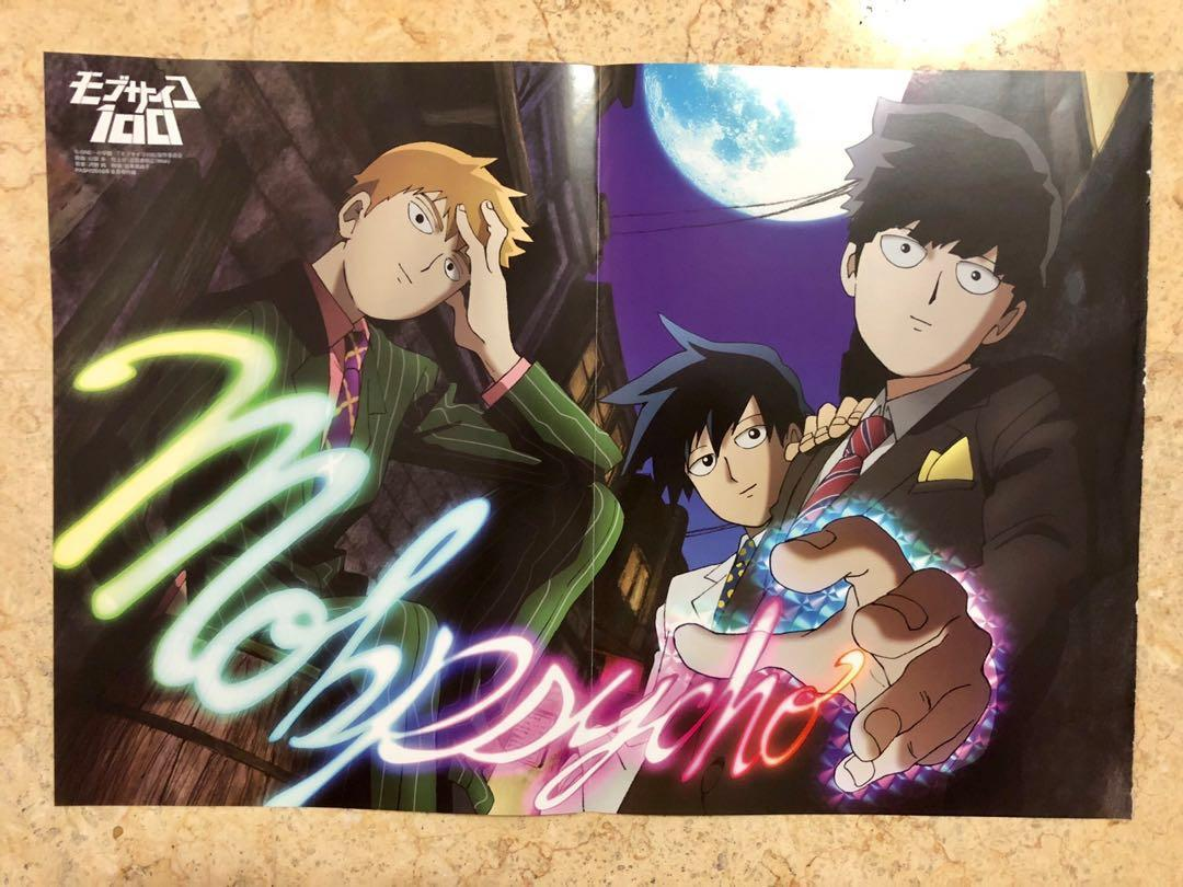 mob psycho 100 a3 anime poster pinup