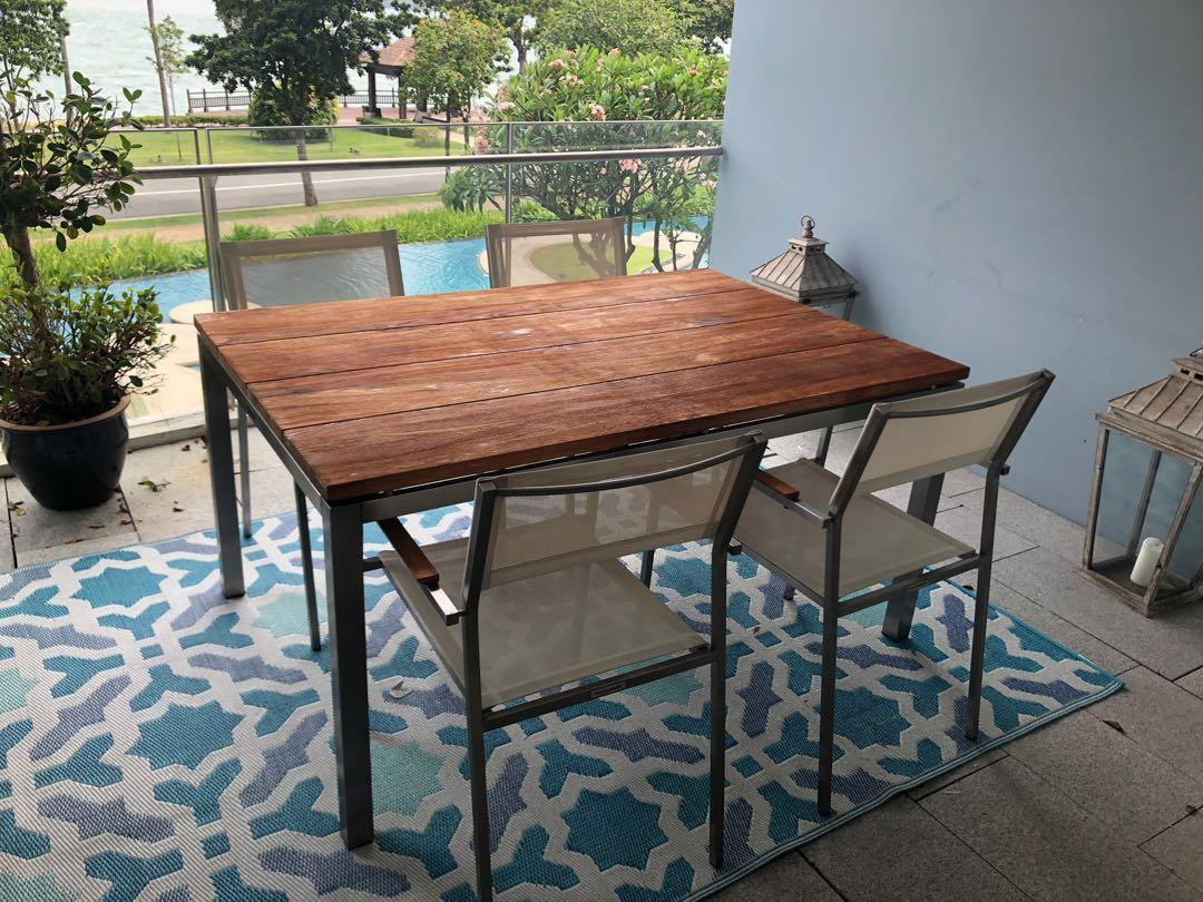 Teak And Mahogany Outside Table And Chairs Furniture Tables Chairs On Carousell
