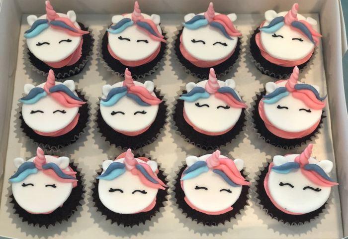 Unicorn Face Cupcakes