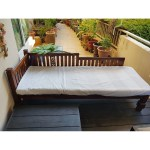 Balinese Style Day Bed Teak Wood With Mattresa Furniture Beds Mattresses On Carousell