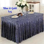 Navy Blue N Gold Buffet Table Cloth Furniture Tables Chairs On Carousell