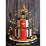 Goldenhorse Award Trophy Cake Hollywood Theme Man Theme Gold Elegant 3d Customized 3d Cake Singaporecake Corporatecake Oscar Food Drinks Baked Goods On Carousell