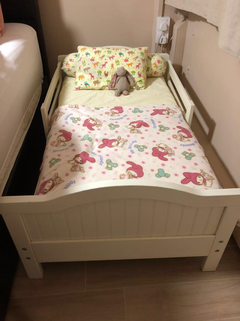 Pottery Barn White Toddler Bed Frame Furniture Beds Mattresses On Carousell