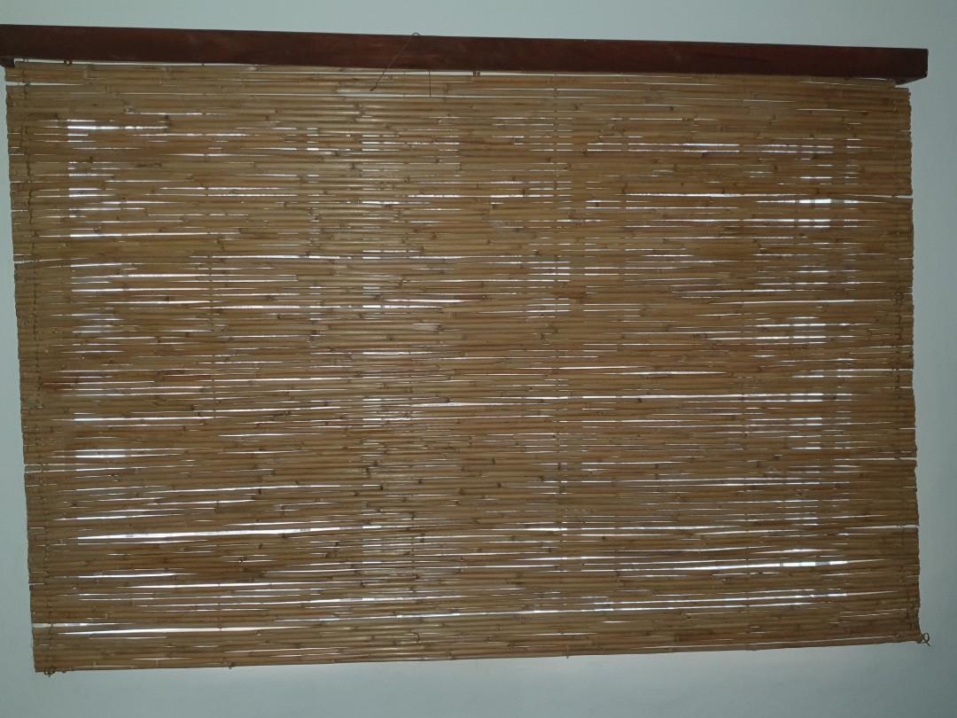 Bamboo Blind Curtain On Carousell