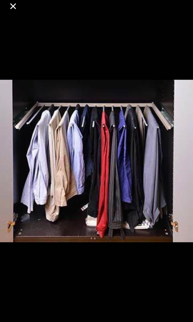 ikea wardrobe pull out trousers pants hanger