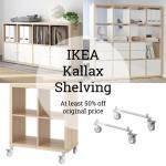 50 Off Ikea Kallax Shelves White Stained Oak Effect On