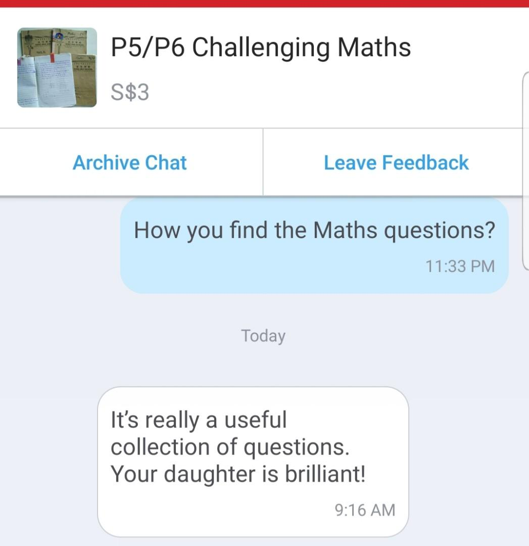 P5 P6 Challenging Maths Questions And Answer Books