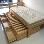 Single Bed With Storage And Pull Out Furniture Beds Mattresses On Carousell