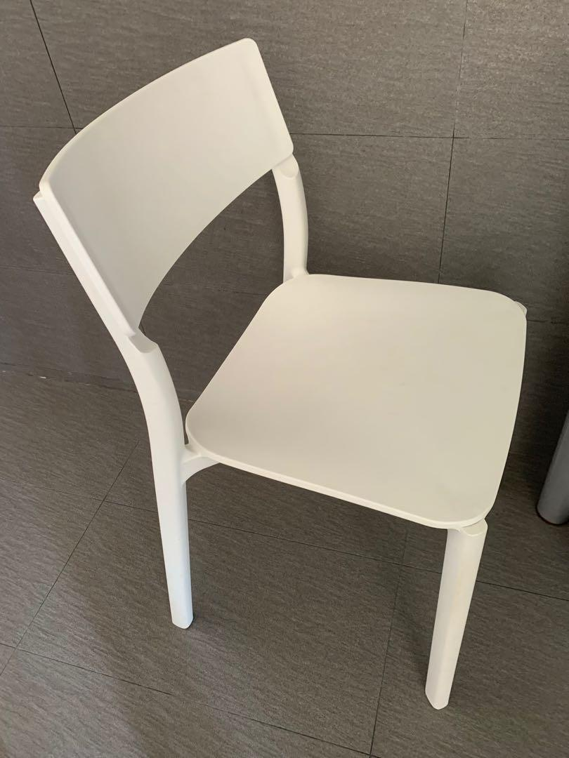 White Ikea Dining Chairs Furniture Tables Chairs On Carousell