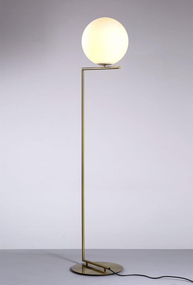 replica flos ic f1 glass globe floor lamp