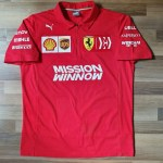 2019 Scuderia Ferrari F1 Team Polo Shirt Mens Size L Sports Sports Apparel On Carousell