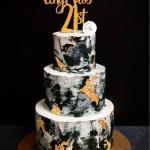 3 Tier Grey X Black Marble Cake Food Drinks Baked Goods On Carousell