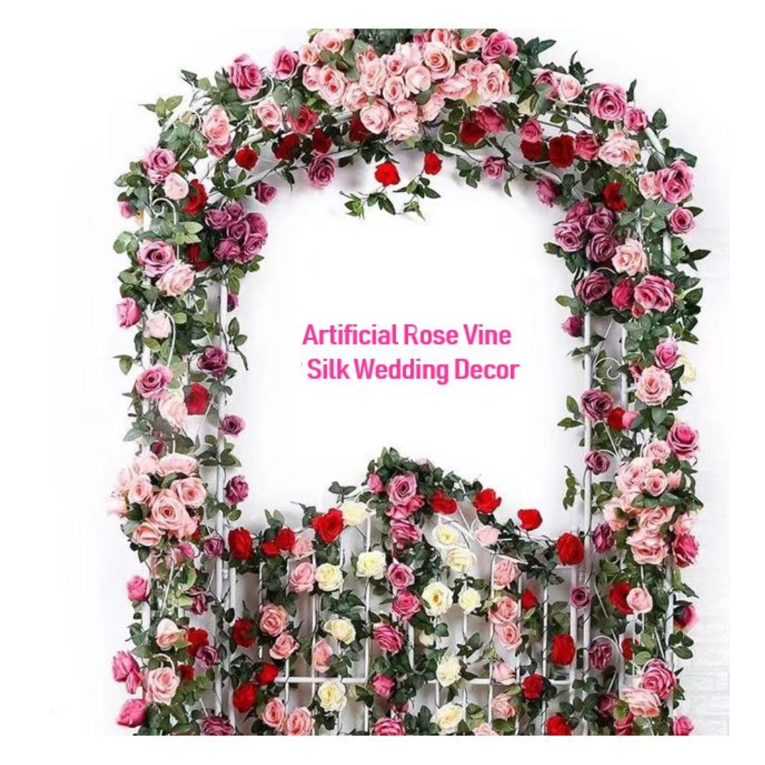 Flower Garland Hanging Baskets Plants Home Outdoor Wedding ... on Decorative Wall Sconces For Flowers Hanging Baskets Delivery id=28457