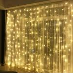 Sale Curtain Fairy Lights Backdrop With Stand Full Set Diy Decoration Everything Else On Carousell