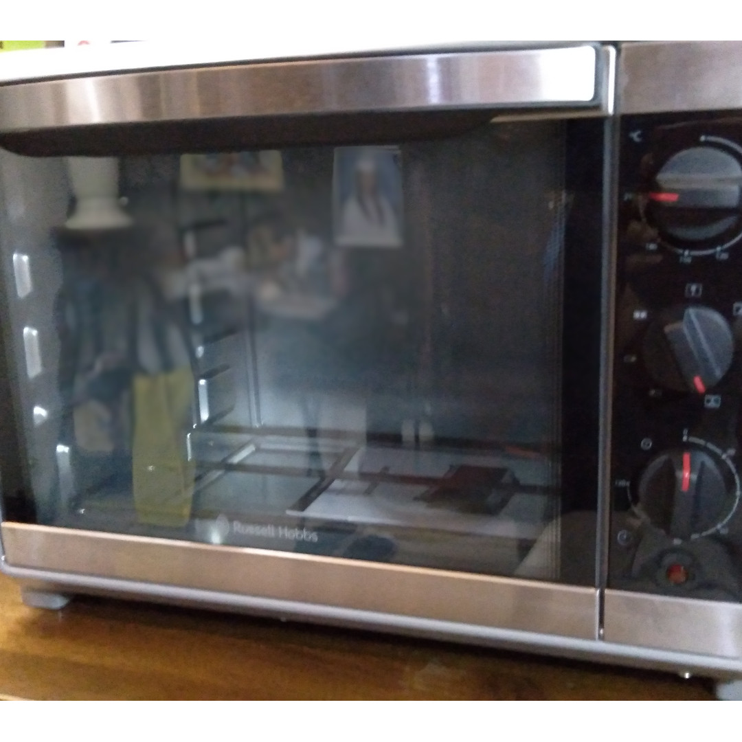 russell hobbs compact kitchen 30l convection oven with hot plate
