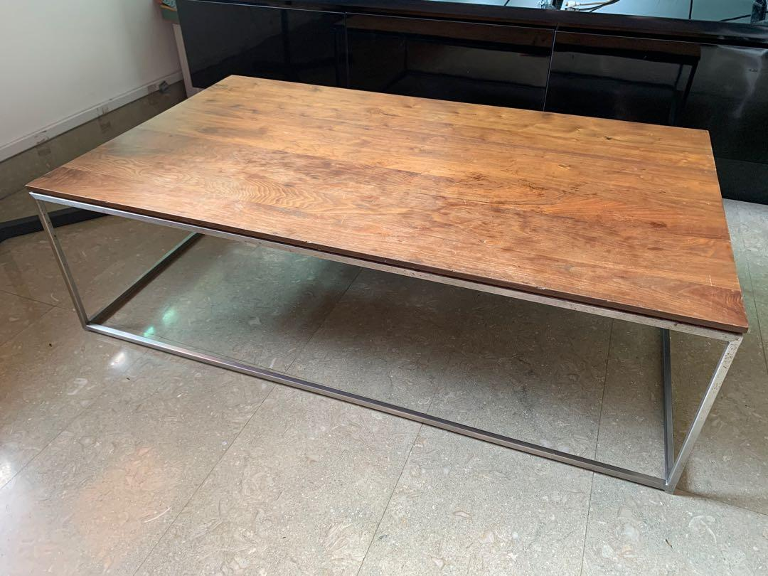 crate barrel frame coffee table