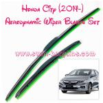 2pcs Honda City 6th Generation 2014 Aerodynamic Soft Rubber Silicon Beads Coated Wiper Blades Set Clear Vision Smooth Wiping Operations No Streaking Or Juddering Best Suited Sg Weather Car Accessories Accessories On