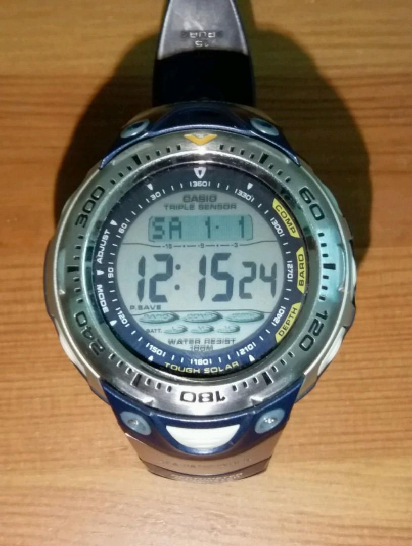 CASIO Sea-Pathfinder SPF- 70 (太陽能充電), 名牌, 錶 - Carousell