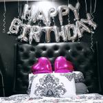 Silver Birthday Banner Bedroom Setup Surprise Design Craft Art Prints On Carousell